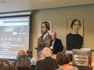 William Jenkins addresses audience.