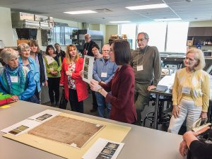 Danielle Manning at the Archives of Ontario